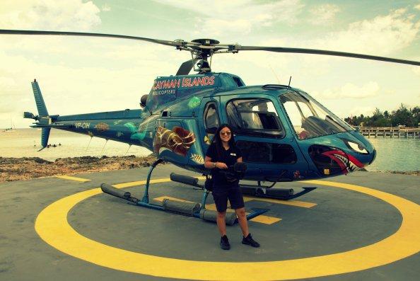 AIDA-Dreharbeiten: Vogelperspektive von Grand Cayman
