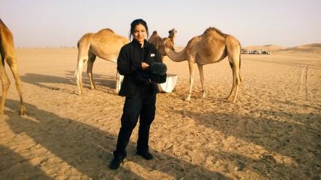 AIDA: Dreharbeiten in der Al Khatim Wüste bei Abu Dhabi