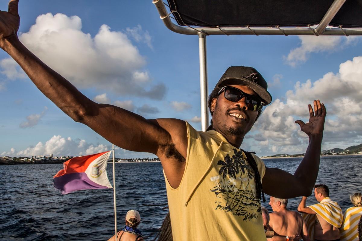 Sint Maarten - Dreharbeiten entlang der Küste