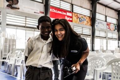 Belize City: AIDA-Dreharbeiten in einer Schule