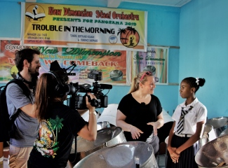 Dreharbeiten auf Grenada